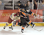 Steven Cook, Princeton ?, Daryl Marcoux - The Princeton University Tigers defeated the University of Denver Pioneers 4-1 in their first game of the Denver Cup on Friday, December 30, 2005 at Magness Arena in Denver, CO.