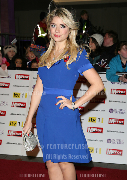 Holly Willoughby arriving for the 2010 Pride Of Britain Awards, at the Grosvenor House Hotel, London. 08/11/2010  Picture by: Alexandra Glen / Featureflash