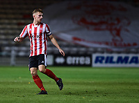 Lincoln City U18's Charlie West<br /> <br /> Photographer Andrew Vaughan/CameraSport<br /> <br /> The FA Youth Cup Second Round - Lincoln City U18 v South Shields U18 - Tuesday 13th November 2018 - Sincil Bank - Lincoln<br />  <br /> World Copyright © 2018 CameraSport. All rights reserved. 43 Linden Ave. Countesthorpe. Leicester. England. LE8 5PG - Tel: +44 (0) 116 277 4147 - admin@camerasport.com - www.camerasport.com