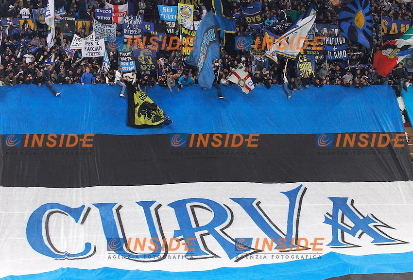 Tifosi Inter, Supporters<br /> Milano 05-10-2013<br /> Stadio Giuseppe Meazza <br /> Football Calcio 2013/2014 Serie A <br /> Inter - Roma<br /> Foto Marco Bertorello Insidefoto
