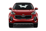 Car photography straight front view of a 2018 KIA Sportage EX 5 Door SUV