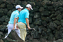 Rory McIlroy and Graeme McDowell of Ireland in action during the final round of the Omega Mission Hills World Cup played at The Blackstone Course, Mission Hills Golf Club on November 27th in Haikou, Hainan Island, China.( Picture Credit / Phil Inglis )
