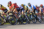 The main group of favourites including Sonny Colbrelli (ITA) Bahrain-Merida on Driesstraat during the 2019 E3 Harelbeke Binck Bank Classic 2019 running 203.9km from Harelbeke to Harelbeke, Belgium. 29th March 2019.<br /> Picture: Eoin Clarke | Cyclefile<br /> <br /> All photos usage must carry mandatory copyright credit (© Cyclefile | Eoin Clarke)
