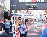 East Gull Lake Minnesota's Michelle Andres wins the women's division of the 2015 Wisconsin Ironman with a time of 10 hours, 8 minutes, and 5 seconds on Sunday, September 13, 2015 in Madison, Wisconsin