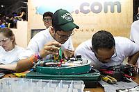 SAO PAULO, SP - 01.02.2017 - CAMPUS-PARTY - Vista da Campus Party Brasil 2017, no Pavilh&atilde;o de Exposi&ccedil;&otilde;es do Anhembi no in&iacute;cio da tarde desta quarta-feira (01) na zona norte de S&atilde;o Paulo.<br /> <br /> (Foto: Fabricio Bomjardim / Brazil Photo Press)