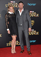 LOS ANGELES, CA. October 20, 2016: Karl Urban &amp; Katee Sackhoff at the world premiere of Marvel Studios' &quot;Doctor Strange&quot; at the El Capitan Theatre, Hollywood.<br /> Picture: Paul Smith/Featureflash/SilverHub 0208 004 5359/ 07711 972644 Editors@silverhubmedia.com