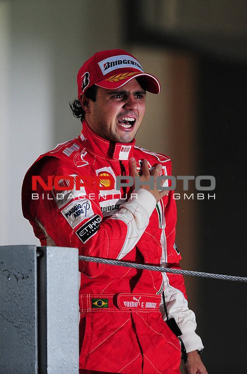 Podium - Felipe Massa (BRA), Scuderia Ferrari <br /> Podest