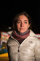 Magali, Gael Garcia Bernals assistant on location of his film.  San Gregorio, Xochimilco, Mexico