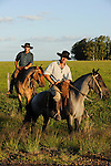 URUGUAY Tacuarembo, Gauchos auf Pferd arbeiten auf Rinderfarmen /.URUGUAY Tacuarembo Gauchos on horse at cattle farm