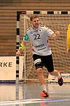 09.11.2019, Hansehalle Luebeck, GER,  2.Bundesliga Handball VfL Luebeck-Schwartau - TV Emsdetten<br /> <br /> im Bild / picture shows<br /> Einzelaktion/Aktion. Ganze Figur. Einzeln. Freisteller. Dirk Holzner (TV Emsdetten) jubelt<br /> <br /> Foto © nordphoto / Tauchnitz