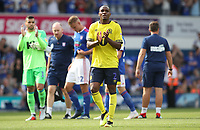 Blackburn Rovers' Ryan Nyambe applauds the crowd at the end of todays match<br /> <br /> <br /> Photographer Rachel Holborn/CameraSport<br /> <br /> The EFL Sky Bet Championship - Ipswich Town v Blackburn Rovers - Saturday 4th August 2018 - Portman Road - Ipswich<br /> <br /> World Copyright &copy; 2018 CameraSport. All rights reserved. 43 Linden Ave. Countesthorpe. Leicester. England. LE8 5PG - Tel: +44 (0) 116 277 4147 - admin@camerasport.com - www.camerasport.com