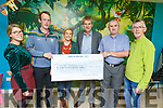 A cheque presentation from the Causeway Macra 5/10k run to the Down Syndrome Kerry in Tralee on Thursday night.<br /> L-r, Joanne Lawlor, John Casey, Alison O&rsquo;Connor, Risteard Pierse (Tralee Branch Chairperson), Mike Moloney (Treasurer) and Gerard O&rsquo;Carroll.