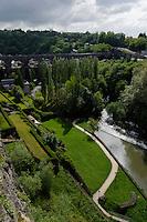 Tal der Alzette in Grund, Stadt Luxemburg, Luxemburg