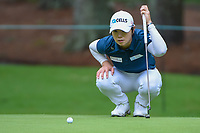 Eun-Hee Ji (KOR) lines up her putt on 10 during round 1 of the U.S. Women's Open Championship, Shoal Creek Country Club, at Birmingham, Alabama, USA. 5/31/2018.<br /> Picture: Golffile | Ken Murray<br /> <br /> All photo usage must carry mandatory copyright credit (&copy; Golffile | Ken Murray)