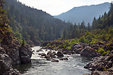 USA, Oregon, Wild and Scenic Rogue River in the Medford District, the Blossom Bar Rapid and Rock Garden