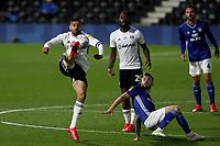 10th July 2020; Craven Cottage, London, England; English Championship Football, Fulham versus Cardiff City; Aleksandar Mitrovic of Fulham controls the high ball
