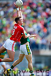 Peter Crowley Kerry in action against Aidan Walsh Cork in the Munster Senior Football Final at Fitzgerald Stadium on Sunday.