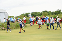 Ryan Blaum (USA), Keith Mitchell (USA), and Kevin Tway (USA) make their way down 1 during round 4 of the AT&T Byron Nelson, Trinity Forest Golf Club, at Dallas, Texas, USA. 5/20/2018.<br /> Picture: Golffile | Ken Murray<br /> <br /> All photo usage must carry mandatory copyright credit (© Golffile | Ken Murray)