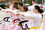 Pix: Shaun Flannery/shaunflanneryphotography.com...COPYRIGHT PICTURE>>SHAUN FLANNERY>01302-570814>>07778315553>>..19th March 2011...............Lakeside Village, Doncaster..Comic Relief Event..Lynx Martial Arts.