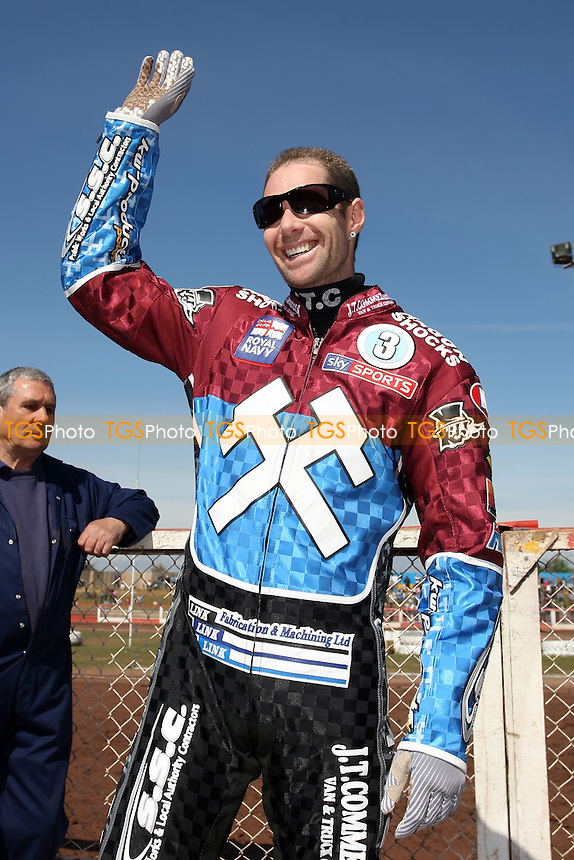Davey Watt of Lakeside Hammers - Lakeside Hammers vs Eastbourne Eagles - Sky Sports Elite League Speedway at Arena Essex Raceway, Purfleet - 06/04/12 - MANDATORY CREDIT: Gavin Ellis/TGSPHOTO - Self billing applies where appropriate - 0845 094 6026 - contact@tgsphoto.co.uk - NO UNPAID USE.