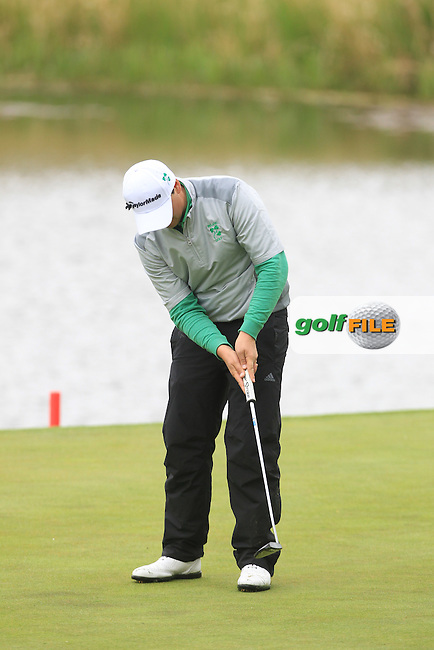 Colm Campbell (AM)(IRL) during Thursday's Round 1 ahead of the 2016 Dubai Duty Free Irish Open Hosted by The Rory Foundation which is played at the K Club Golf Resort, Straffan, Co. Kildare, Ireland. 19/05/2016. Picture Golffile | TJ Caffrey.<br /> <br /> All photo usage must display a mandatory copyright credit as: &copy; Golffile | TJ Caffrey.