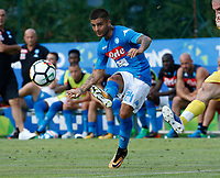 Lorenzo Insigne  of Napoli during a preseason friendly soccer match against Aunania in Dimaro's Stadium   12 July 2017