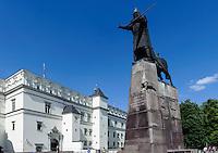 Großfürstenpalast  und Denkmal Gediminas in Vilnius, Litauen, Europa, Unesco-Weltkulturerbe