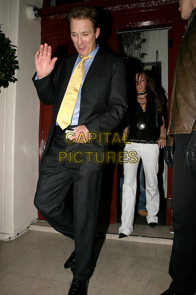MARTIN KEMP.Afterparty of Gala Screening of George Michael: A Different Story at Morton's, Berkeley Square, London, UK..December 5th, 2005.Ref: AH.full length black suit hand waving gesture yellow tie.www.capitalpictures.com.sales@capitalpictures.com.© Capital Pictures.