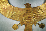Detail of falcon shaped gold pectoral, Tutankhamun and the Golden Age of the Pharaohs, Page 279