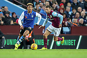 4th November 2017, Villa Park, Birmingham, England; EFL Championship football, Aston Villa versus Sheffield Wednesday; Liam Palmer of Sheffield Wednesday looks up to see what is available
