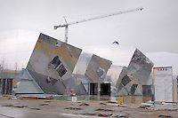 - Milano, cantiere per  l'Esposizione Mondiale Expo 2015; padiglione tematico cluster del riso<br />