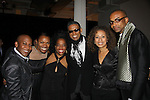 """Ten - Deb Koenigsberger (chair), Rhonda Ross (Another World), B. Michael (fashion designer), Tamara Tunie, Mark Anthony at The Fourteenth Annual Hearts of Gold Gala """"Hooray for Hollywood!"""" - with its mission to foster sustainable change in lifestyle and levels of self-sufficiency for homeless mothers and their children on October 28, 2010 at the Metropolitan Pavillion, New York City, New York. (Photo by Sue Coflin/Max Photos)"""
