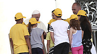 Papa Francesco parla con un gruppo di bambini durante l'udienza generale del mercoledi' in Piazza San Pietro, Citta' del Vaticano, 13 giugno, 2018.<br /> Pope Francis talks with a group of children during his weekly general audience in St. Peter's Square at the Vatican, on June 13, 2018.<br /> UPDATE IMAGES PRESS/Isabella Bonotto<br /> <br /> STRICTLY ONLY FOR EDITORIAL USE