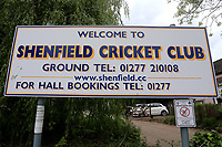 General view of the entrance sign during Shenfield CC vs Hornchurch CC, Shepherd Neame Essex League Cricket at Chelmsford Road on 13th May 2017