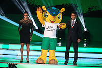COSTA DO SAUIPE, BA, 06.12.2013 - COPA 2014 - SORTEIO FINAL DA COPA DO MUNDO 2014 - Marta, Fuleco e Bebeto durante o sorteio Final da Copa do Mundo de 2014 na Costa do Sauipe litoral norte da Bahia, nesta sexta-feira, 06. (Foto: William Volcov / Brazil Photo Press).