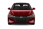 Car photography straight front view of a 2019 Hyundai Elantra Limited 4 Door Sedan Front View