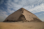 The Bent Pyramid, located 10km south of Saqqara in Dahshur, Egypt.