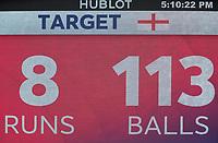 England target during Australia vs England, ICC World Cup Semi-Final Cricket at Edgbaston Stadium on 11th July 2019
