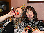 Therese Cullen and Brigid Grant enjoying the new years eve celebrations in The Thatch. . Photo:Colin Bell/pressphotos.ie
