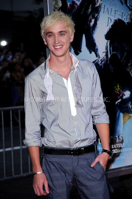 WWW.ACEPIXS.COM . . . . .  ....July 9 2009, New York City....Actor Tom Felton at the New York premiere of 'Harry Potter and the Half-Blood Prince' at Ziegfeld Theatre on July 9, 2009 in New York City....Please byline: KRISTIN CALLAHAN - ACE PICTURES.... *** ***..Ace Pictures, Inc:  ..tel: (212) 243 8787 or (646) 769 0430..e-mail: info@acepixs.com..web: http://www.acepixs.com