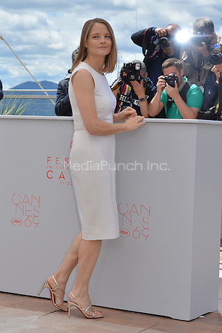Jodie Forster at the Photocall &acute;Money Monster` - 69th Cannes Film Festival on May 12, 2016 in Cannes, France.<br /> CAP/LAF<br /> &copy;Lafitte/Capital Pictures /MediaPunch ***NORTH AMERICAN AND SOUTH AMERICAN SALES ONLY***