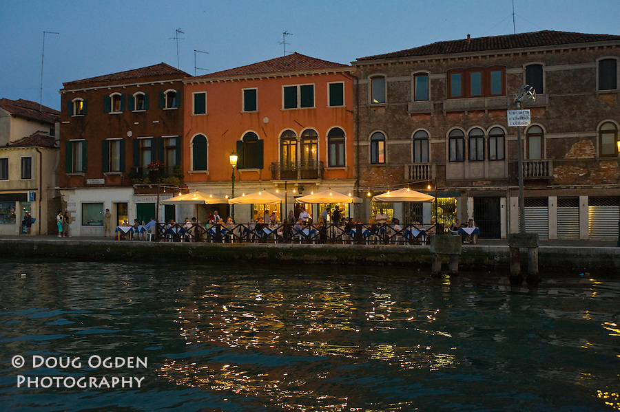 Diners on the Guidecca, Venice, Italy