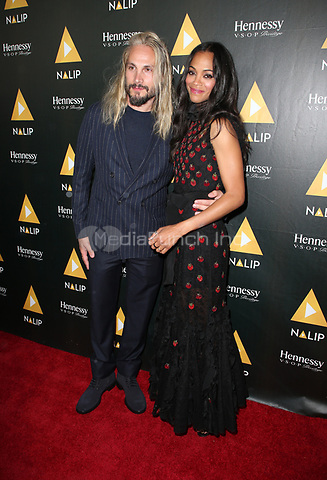 HOLLYWOOD, CA June 24- Zoe Saldana, Marco Perego, At NALIP Latino Media Awards at The Ray Dolby Ballroom at Hollywood & Highland Center, California on June 24, 2017. Credit: Faye Sadou/MediaPunch
