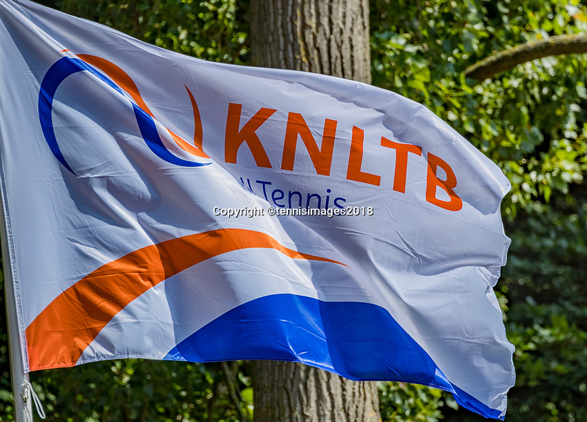 The Hague, Netherlands, 10 June, 2018, Tennis, Play-Offs Competition, KNLTB flag<br /> Photo: Henk Koster/tennisimages.com