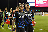San Jose, CA - Saturday June 24, 2017: Cordell Cato, Darwin Ceren during a Major League Soccer (MLS) match between the San Jose Earthquakes and Real Salt Lake at Avaya Stadium.