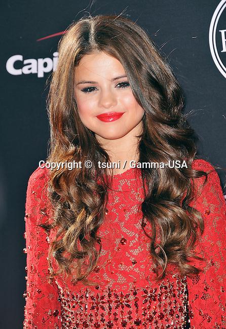 Selena Gomez at the ESPY 2013 Awards at the Nokia Theatre In Los Angeles.