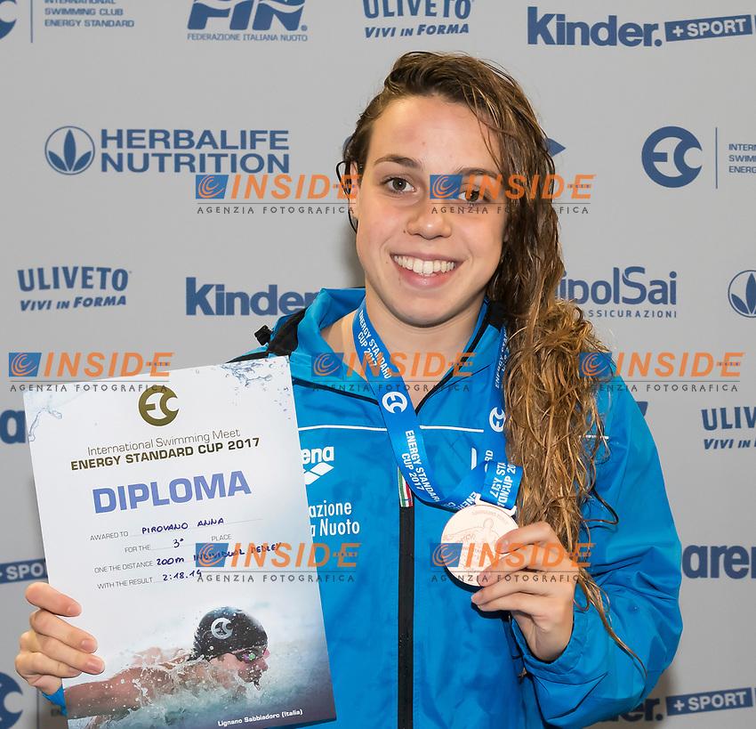 Junior Girls' 200m Individual Medley <br /> PIROVANO Anna ITALY Bronze Medal <br /> Lignano Sabbiadoro 07-05-2017 Ge.Tur Complex <br /> Energy Standard Cup 2017 Nuoto<br /> Photo Andrea Staccioli/Deepbluemedia/Insidefoto