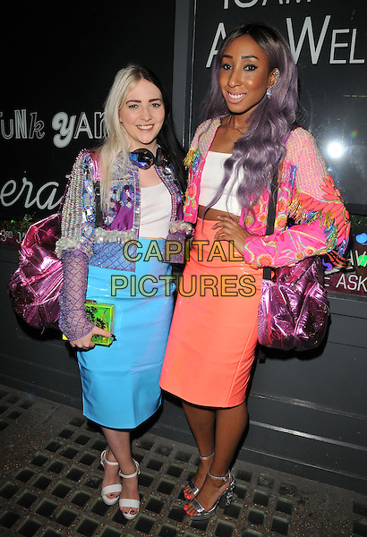 The Glitter Beats ( DJ Tayla &amp; DJ Yuki Love ) attend the Notion magazine issue 71 launch party, Lights of Soho, Brewer Street, London, UK, on Friday 18 December 2015.<br /> CAP/CAN<br /> &copy;Can Nguyen/Capital Pictures