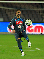 Miguel Britos  durante l'incontro di ritorno della semifinale  Tim Cup tra     Napoli - Lazio allo  Stadio San Paolo  di Napoli ,08 Aprile  2015