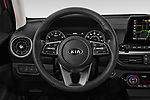 Car pictures of steering wheel view of a 2019 KIA Forte EX 4 Door Sedan